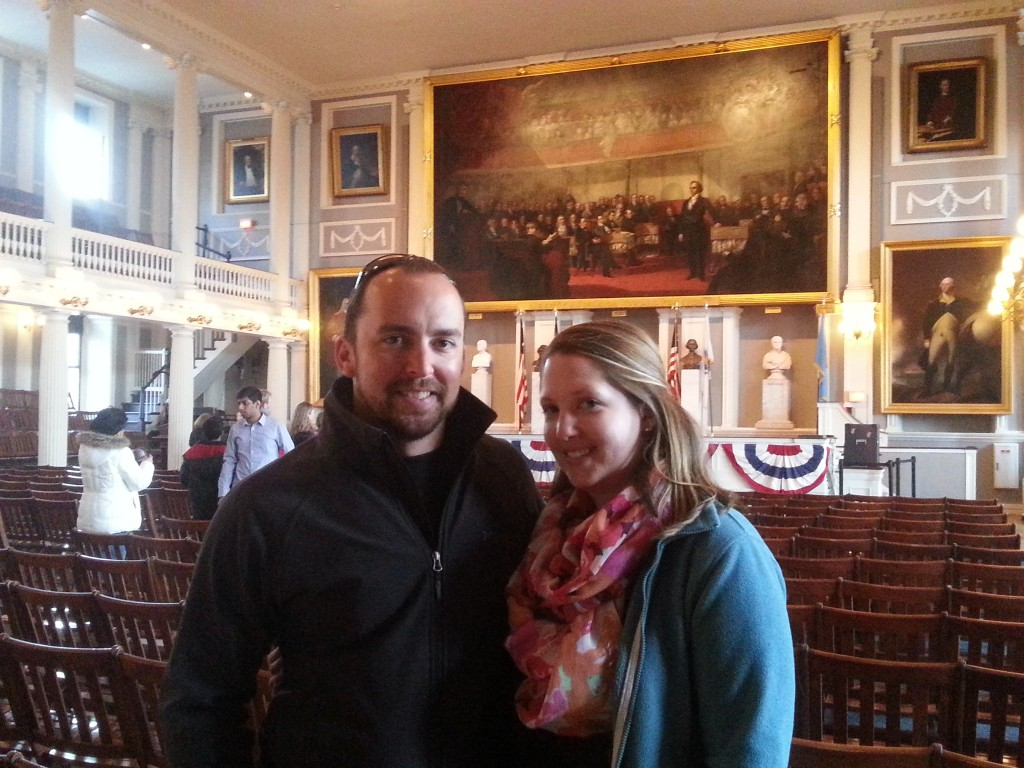 Jenn and Jon Faneuil Hall