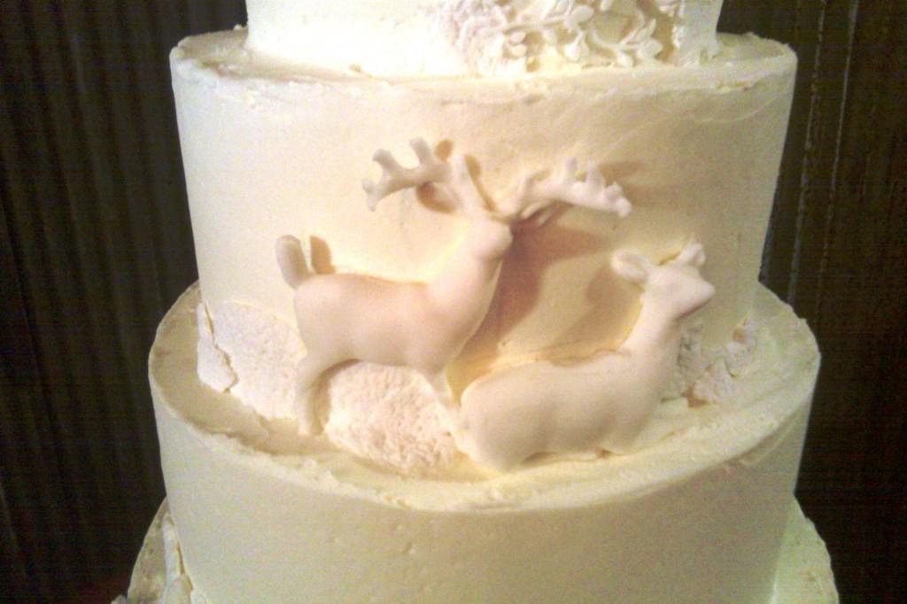 Buttercream Bakehouse Deer on Cake