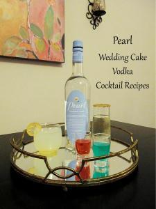 Celebratory Drinks With Pearl Wedding Cake Vodka Liquid Catering